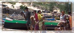 Les pirogues au retour de pêche
