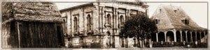Besakana (links) und Kirche des Rova