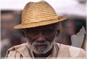 Un Dadabe avec sa canne