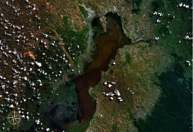 Lac Alaotra vue du ciel