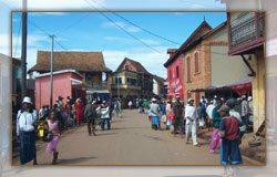 La ville d'Ambalavao