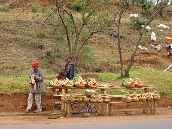 Bord de route d'Antsirabe