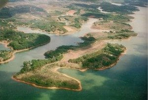 Vue aérienne du Lac Mantasoa