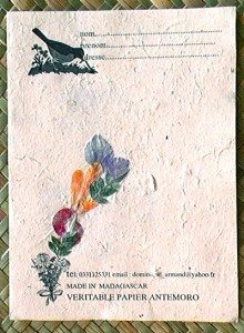Papier Antemoro d'Ambalavao
