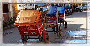 Des pousse- pousses à Tamatave