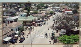 L'artère principale de la ville de Mahajanga