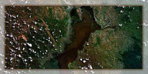 Vue aérienne du Lac Alaotra